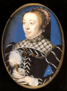 1555 - Miniature of Catherine de' Medici - attributed to F Clouet